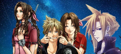 Cloud and Aerith by AnimeGurrlcx