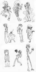 random oc sketches by IdleThreats