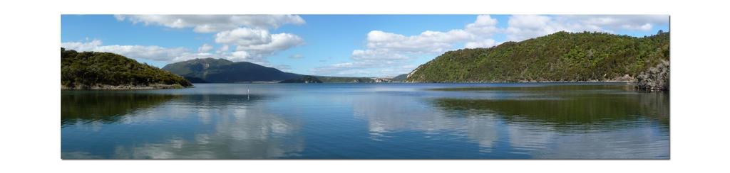 Lake Rotomahana Panorama by faithnomorefan