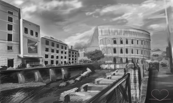 City study sketch