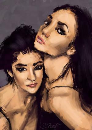 Two prostitutes - study by SVeet-Artist