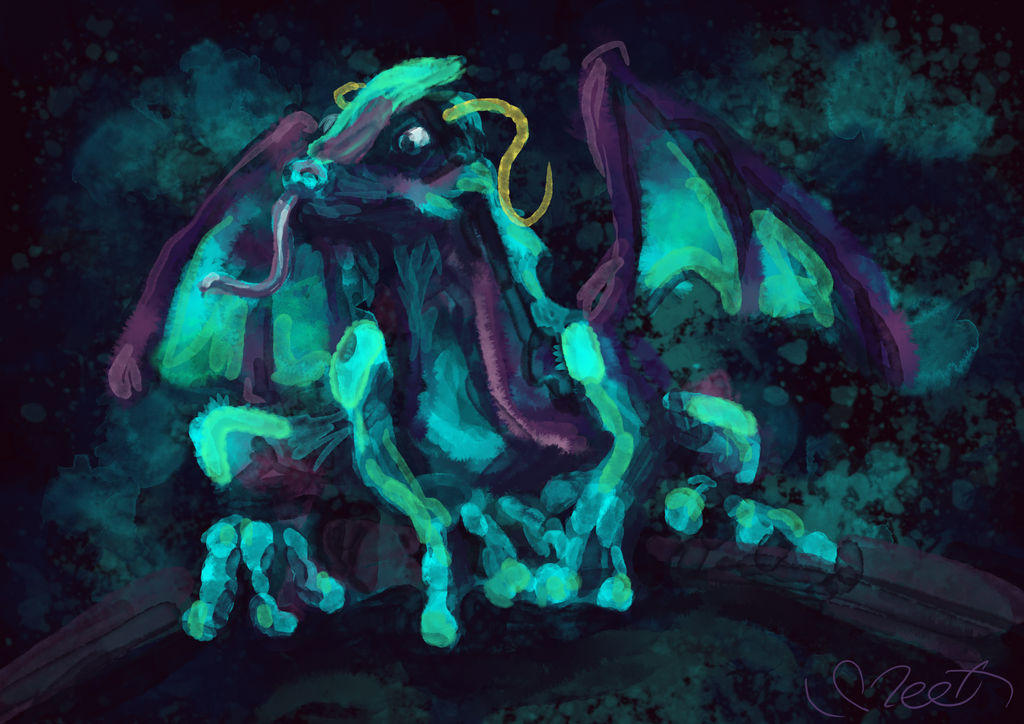 Watercolor dragon by SVeet-Artist