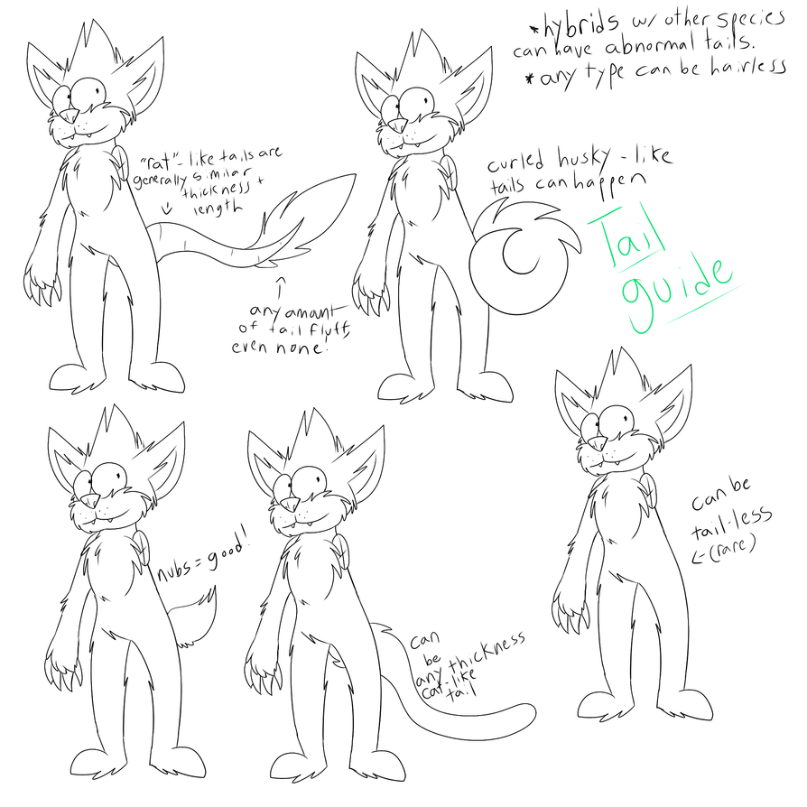 Squanch Tail Guide by Radicalhat