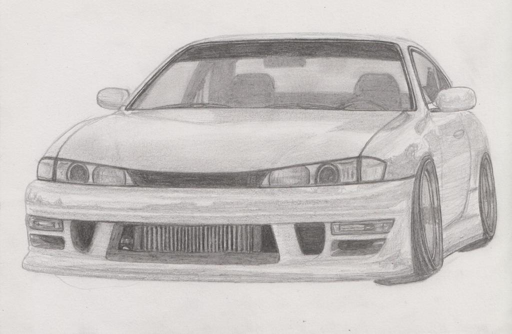 Nissan Silvia S14 Drawing By Remumisa On Deviantart