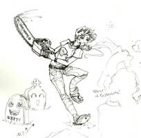 Teague vs the Zombies sketch