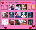Top 13 Favorite Couples/Pairings