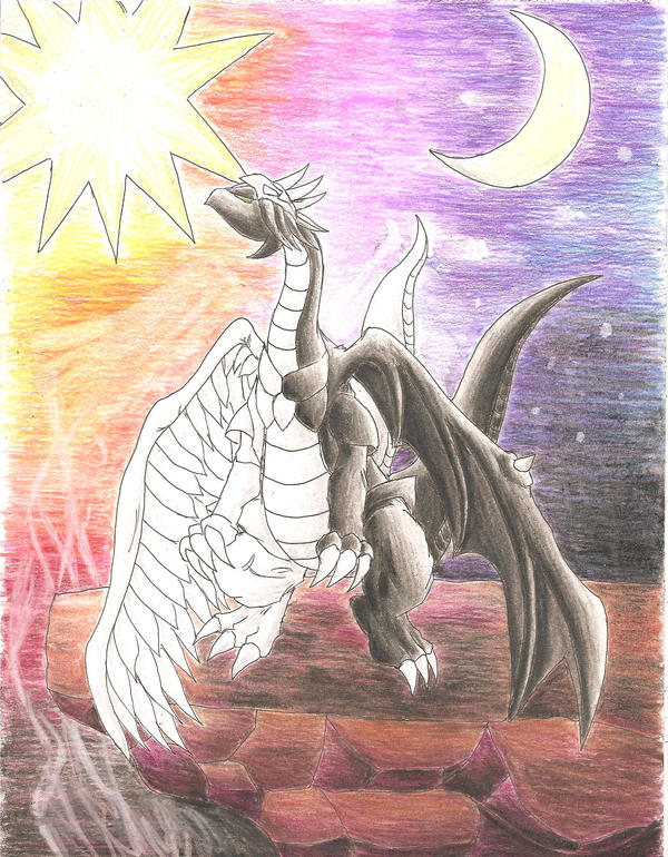 Light and Darkness Dragon by darknight0x0 on DeviantArt