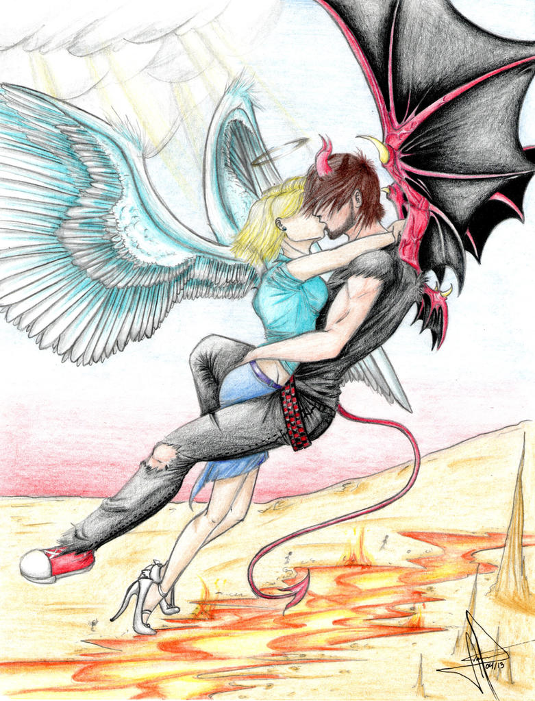 Angel and Demon Forbidden love by xeal99 on DeviantArt