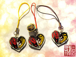 Tiger and Bunny heart cell charms by MaeMaeTwin