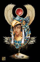 Horus Armor Pharah by MaeMaeTwin