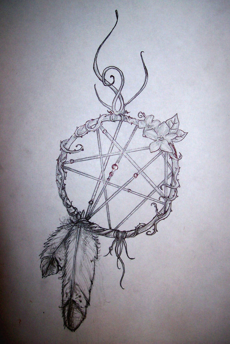 Initial dreamcatcher by theraven1988 on deviantart for Dreamcatcher tattoo template