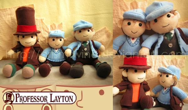 Professor Layton trio by prismtwine