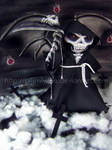 Grim Reaper plushie by prismtwine