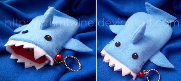 Shark phone cozy by prismtwine