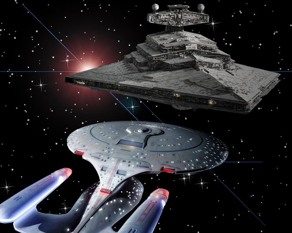Enterprise meet Star Destroyer by Kwindu on DeviantArt