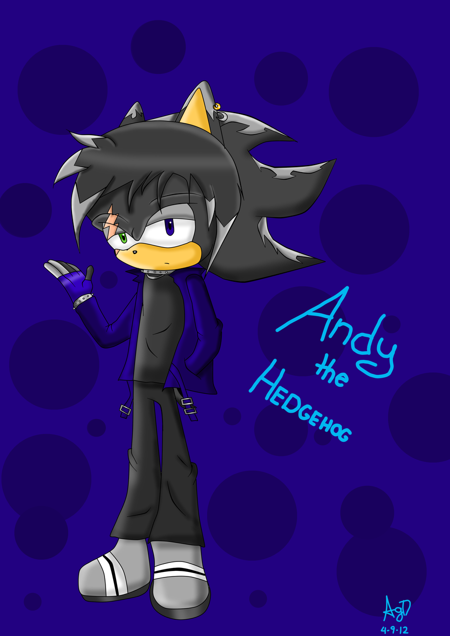 Andy The Hedgehog By Gingathecat13 On Deviantart