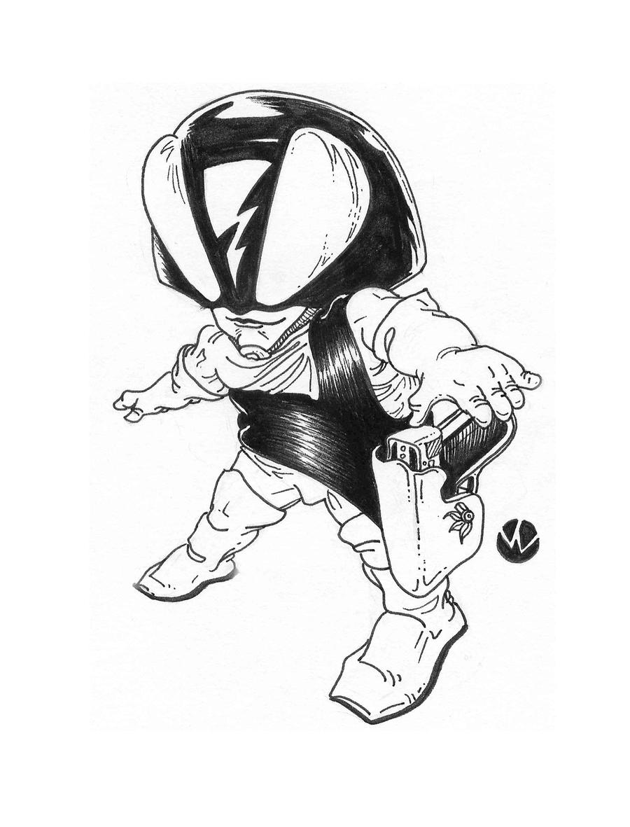 Lil' Alien Big Gun by MonsterMansion