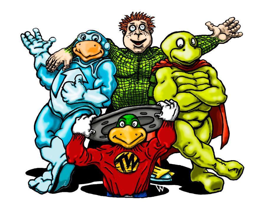 Dc Comics 75th Ann. Turtles by MonsterMansion