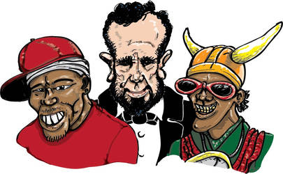 abe, flava, and 50 by MonsterMansion
