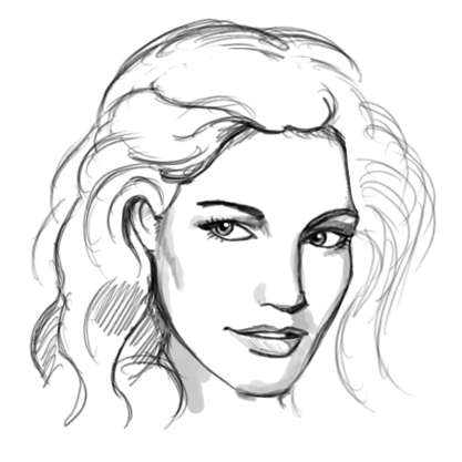 Face Practice Sketch Thing 1 by PseudolonewolfSimple Drawings Of Faces