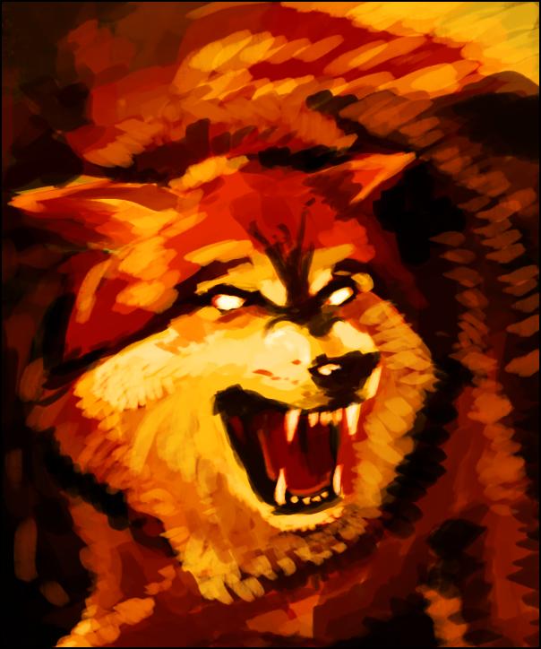 Elemental Wolf: Fire by Pseudolonewolf on DeviantArt