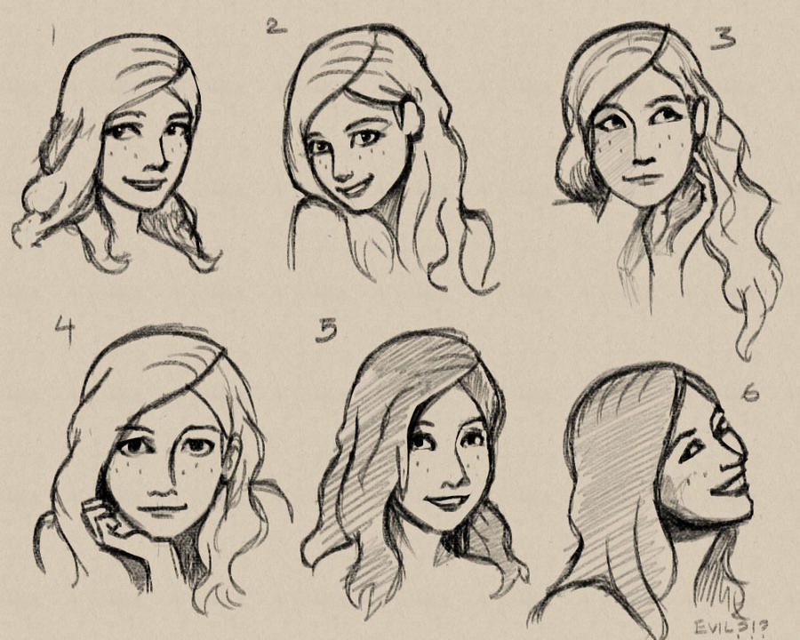 slightly less terrible face sketches by pseudolonewolf on deviantart