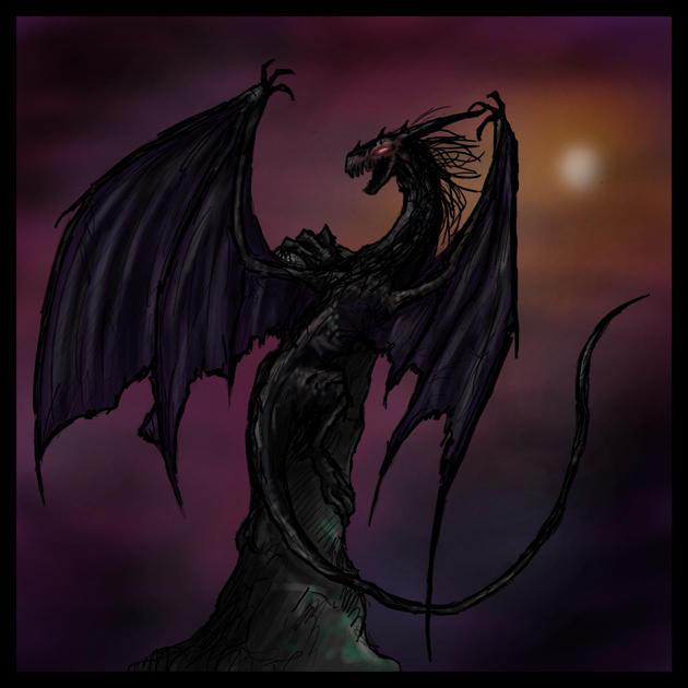 Elemental Dragon: Darkness by Pseudolonewolf