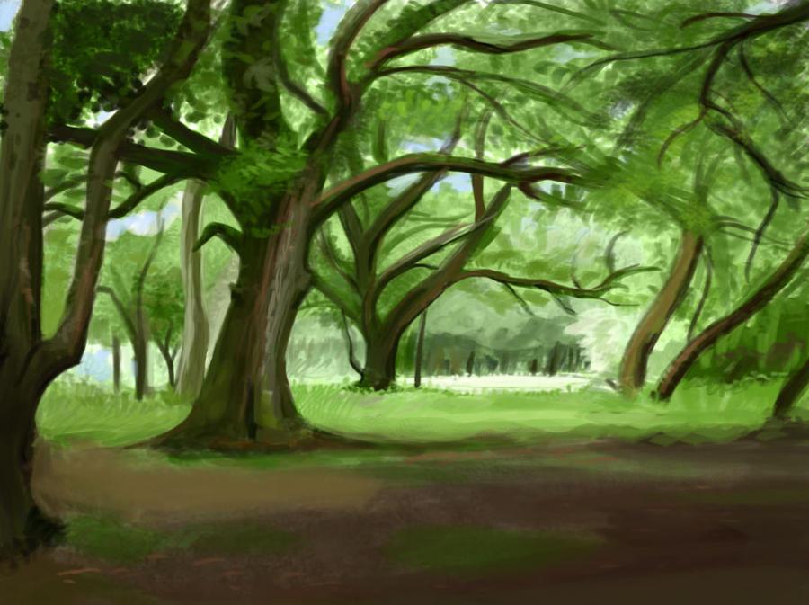Landscape Sketch 2 by Pseudolonewolf