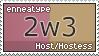 Enneatype 2w3 Stamp by Pseudolonewolf