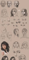 Sketchbook 2013 - More Face Studies