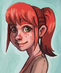 Erin Portrait by Pseudolonewolf