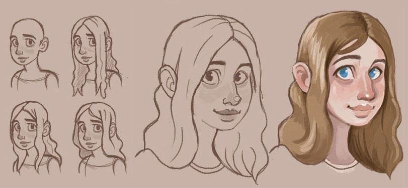 Digital Sketchbook 3 Dec 2014 - Faces (Gemma) by Pseudolonewolf