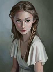 Portrait Study 14/03/2016 by Pseudolonewolf