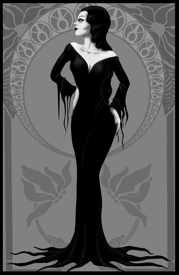 Morticia Addams by Lauramei