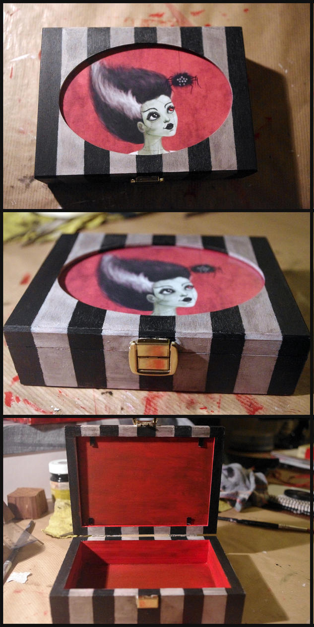 Caja de la novia de Frankenstein by Lauramei