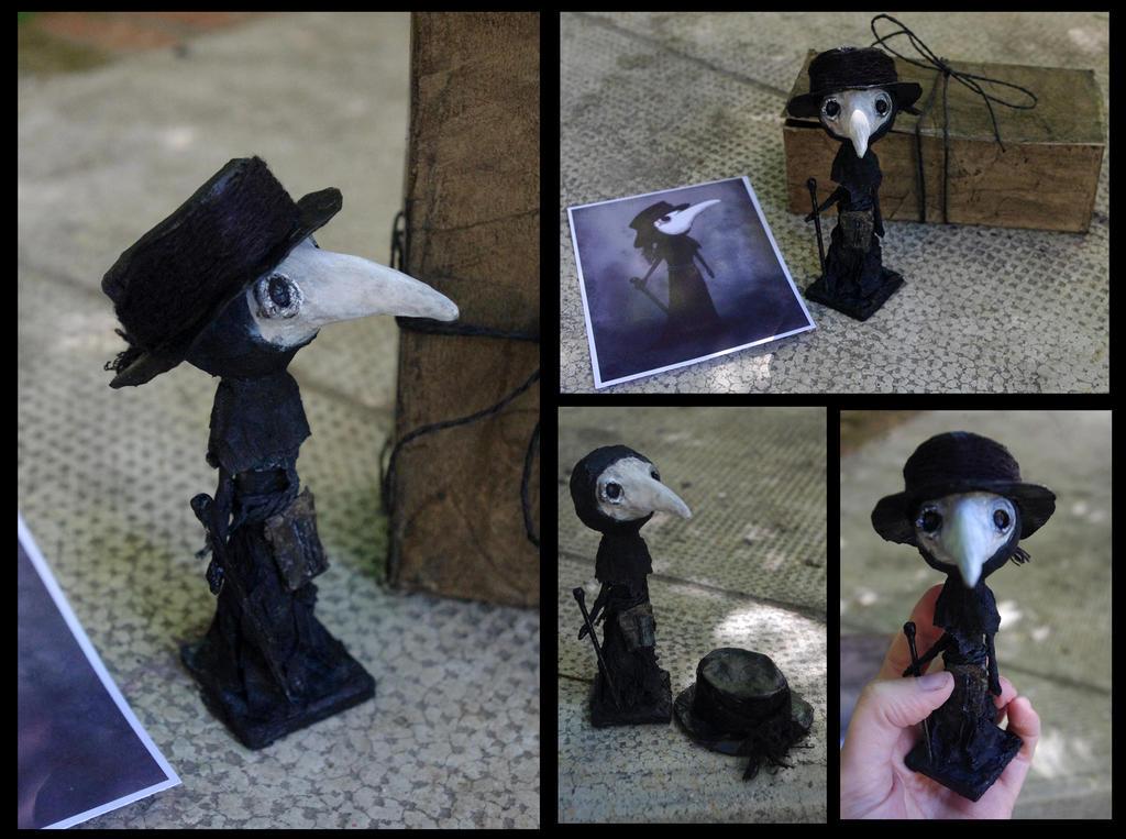 Doctor de la peste negra - Black plague doctor by Lauramei