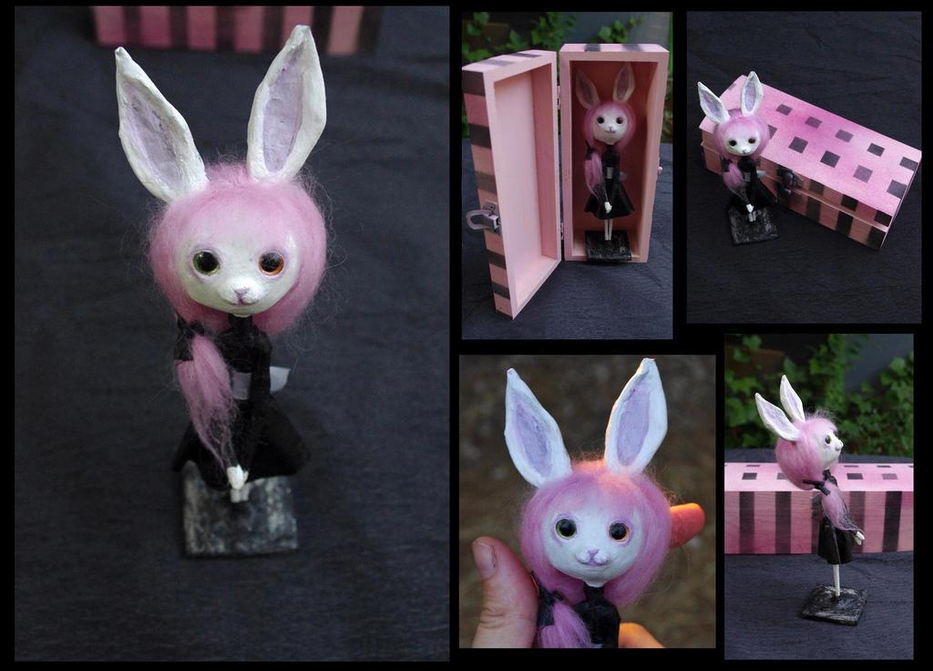 Pastel goth art doll. Cute bunny girl. by Lauramei