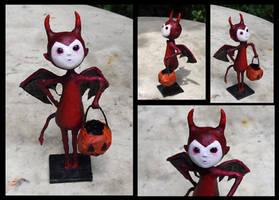 Halloween devil boy by Lauramei