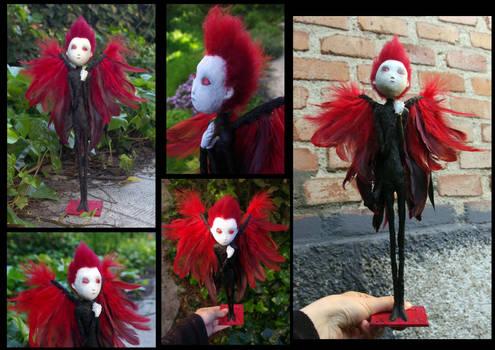 OOAK doll: Ertael Red Wings, the fallen angel.