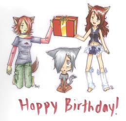 Collab - Happy Birthday Tari by preseada