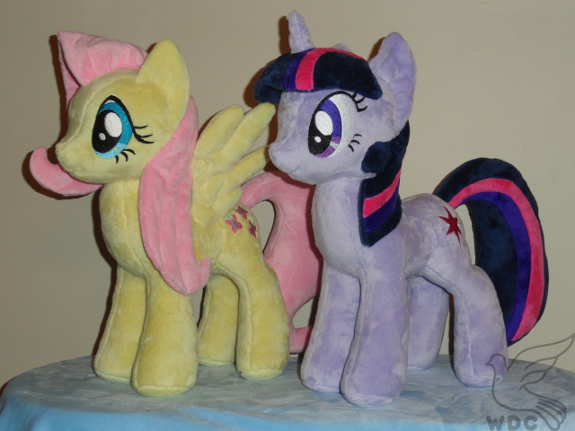 Twilight and Fluttershy by WhiteDove-Creations