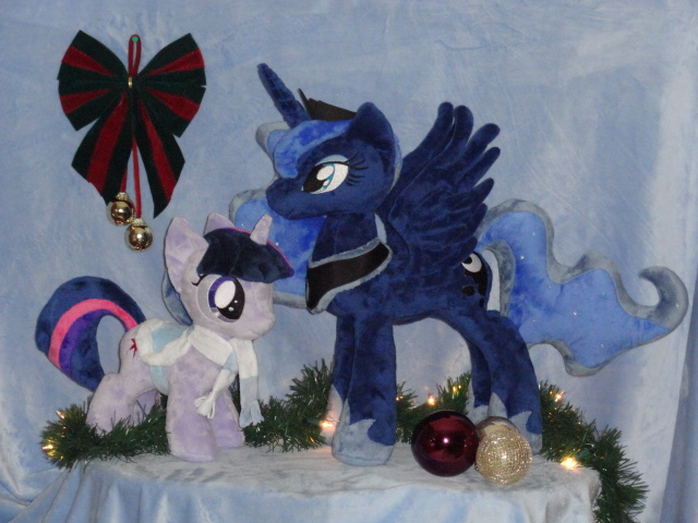Luna Wishing Everypony a Very Merry Christmas by WhiteDove-Creations
