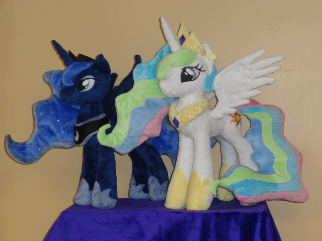Royal Sisters, Luna and Celestia by WhiteDove-Creations