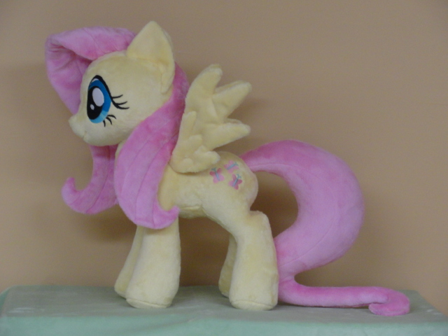Fluttershy with a new tail design by WhiteDove-Creations