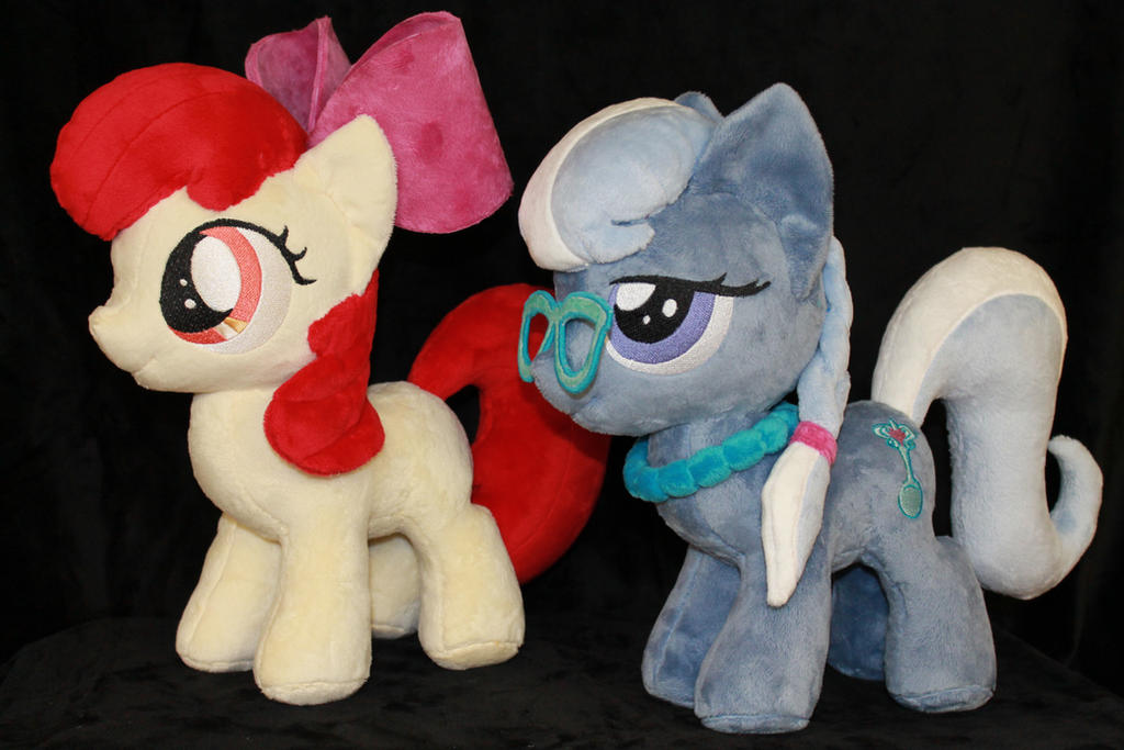 Apple Bloom and Silver Spoon by WhiteDove-Creations
