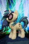 Vinyl Scratch with lasers