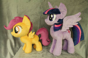 Twilight and Scootaloo by WhiteDove-Creations