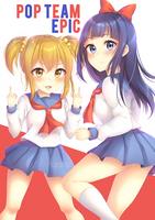 Pop Team Epic by kuriidono