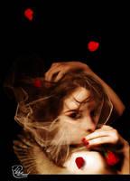 Red rose by dhn-al3ood