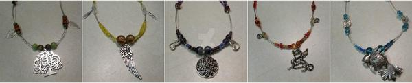 Elemental Necklace Series by Blazespirit